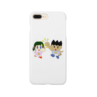 WANPA's STOREのミニわんぱ君としおりちゃん Smartphone cases