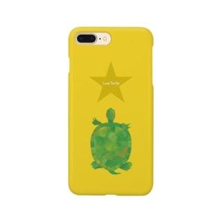 Love Turtle イエロー Smartphone cases