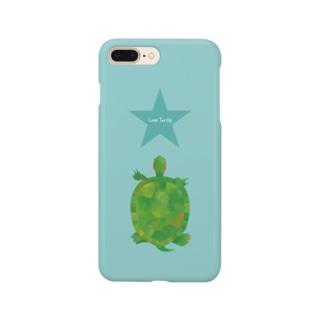 Love Turtle スカイ Smartphone cases