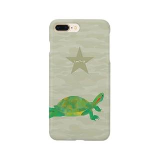 Love Turtle カモフラ スマートフォンケース