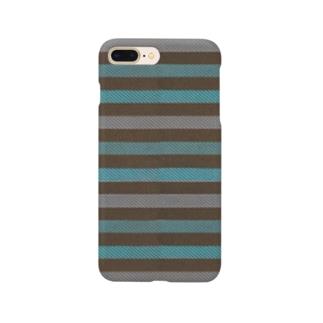 ビンテージストライプ(ミントグリーン) Smartphone cases