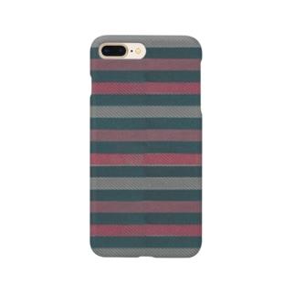 ビンテージストライプ 【ピンク&グリーン】  Smartphone cases