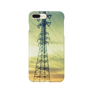朝焼けの鉄塔 Smartphone cases