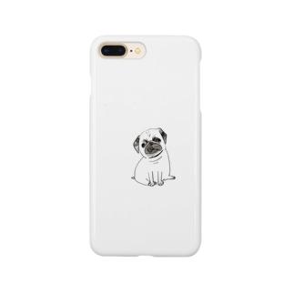 おすわりパグ Smartphone cases