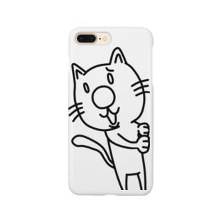 ハナデカネコマルスマホケース Smartphone cases