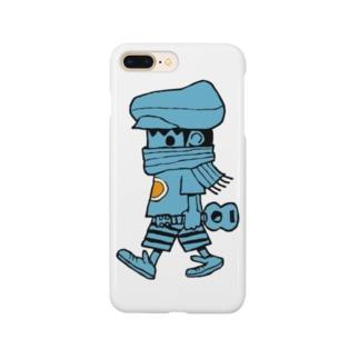 レレボーイ(ブルー) Smartphone cases