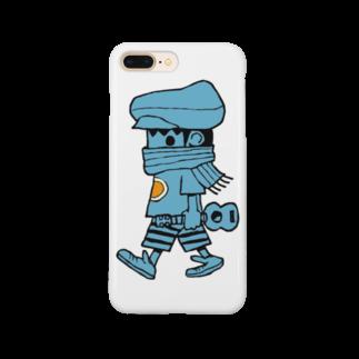 ukuleleboyのレレボーイ(ブルー) Smartphone cases