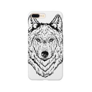 一匹オオカミ(ウルフフェイス) Smartphone cases