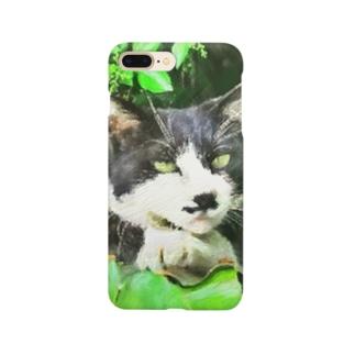 二枚目な猫 Smartphone cases