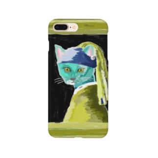 猫に真珠 Smartphone cases