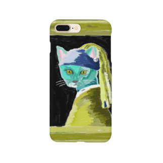 sheの猫に真珠 Smartphone cases