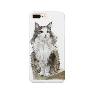 ノルウエージャンのミエルちゃん Smartphone cases