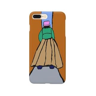 JUNSEN(純仙)路地を歩く女性 Smartphone cases