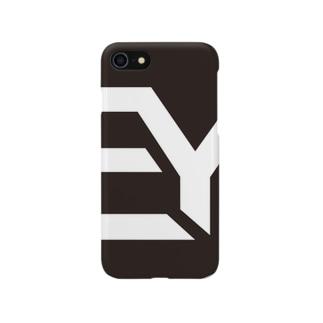 EDM yoga iPhoneケース(ブラック) スマートフォンケース