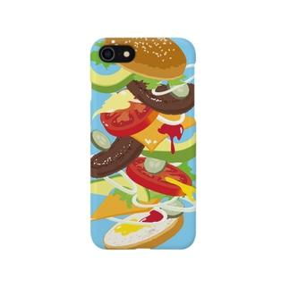 フォーリングハンバーガー Smartphone cases