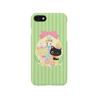 子猫のみーにゃん「イースター」(iPhoneのみ) Smartphone cases
