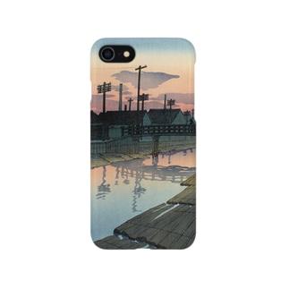 木場の夕暮れ Smartphone cases
