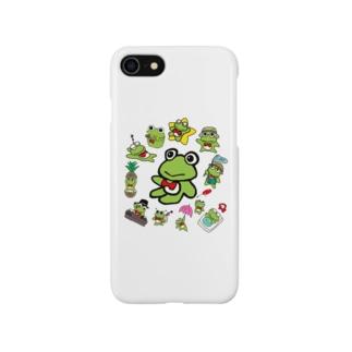 カエルくん沢山 Smartphone cases