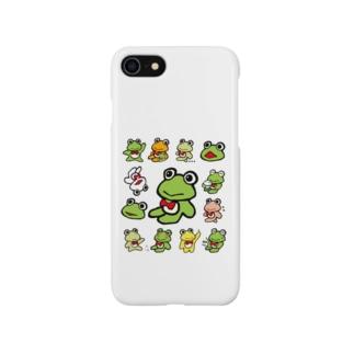 カエルくんたくさん2 Smartphone cases