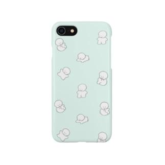 ワヌワヌワヌ(ミント色) Smartphone cases