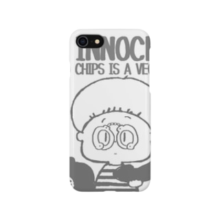 innocent chips モノクロ Smartphone cases