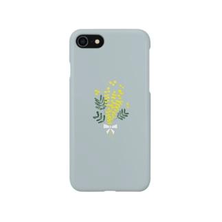 ミモザの花束 スマートフォンケース