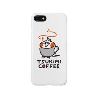 TSUKIMI COFFEE ロゴ(ごきげん) Smartphone cases