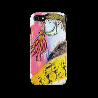 DoiMayumiのPOP ART(My shield is...) Smartphone cases