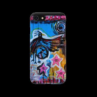 DoiMayumiのPOP ART(左回転ミギマワリノ空想)スマートフォンケース