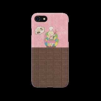 やたにまみこのiPhone7用ケース◆ema-emama『sweet-cat』  スマートフォンケース