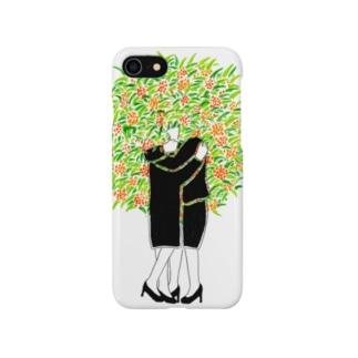 抱き合う2人(金木犀) Smartphone cases