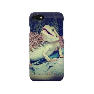 フトアゴヒゲトカゲ Smartphone cases