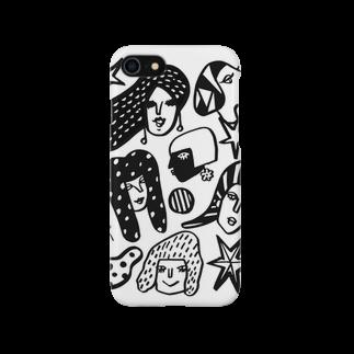 megumiillustrationのwomen-mono スマートフォンケース