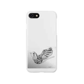 はばたく鳥(ゼンタングル) スマートフォンケース