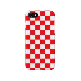 checker flag (Red) Smartphone cases