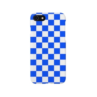 checker flag (Blue) スマートフォンケース