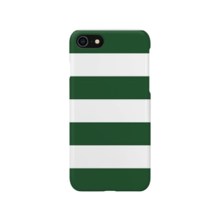 Border Stripe (Green) スマートフォンケース