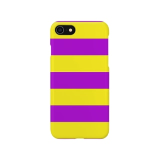 Border Stripe (Yellow × Purple) スマートフォンケース