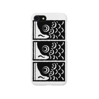 こいのぼり 黒 Smartphone cases
