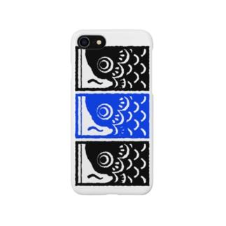 こいのぼり 青 Smartphone cases