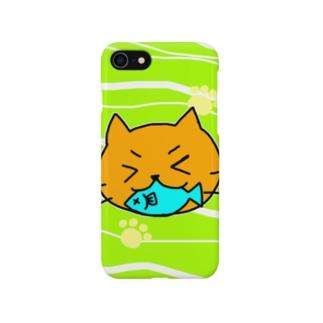 おさかなだいすきネコ Smartphone cases
