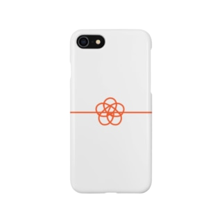 水引き 梅結び Smartphone cases
