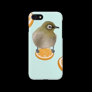 ヤマノナガメのメジロオレンジ Smartphone cases