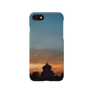 夕暮れ小倉城 Smartphone cases