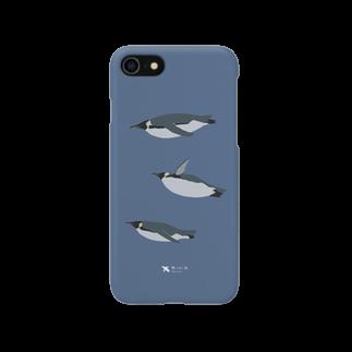 飛べない鳥のコウテイペンギン Smartphone cases