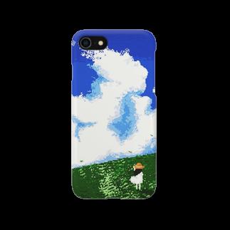 枕さんの夏空(ドット) Smartphone cases