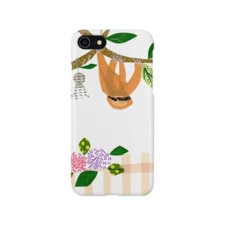 つゆの日のナマケモノ Smartphone cases
