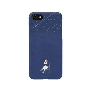 夜空とはしゃぐ女の子 スマートフォンケース