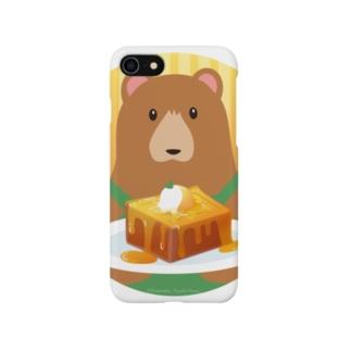 クマ店長のハニートースト Smartphone cases