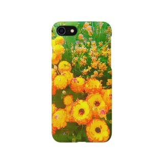オレンジの花 Smartphone cases